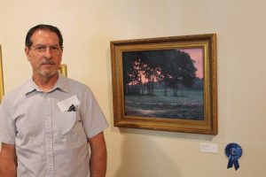 """Parting Gifts, by Bill Dodge was first place winner in the museum's juried art competition, """"Landscapes:  Wish You Were Here"""" in 2015"""